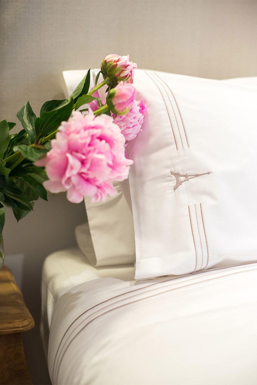 Luxurious Paris Perfect linens in the Bel-Air vacation rental
