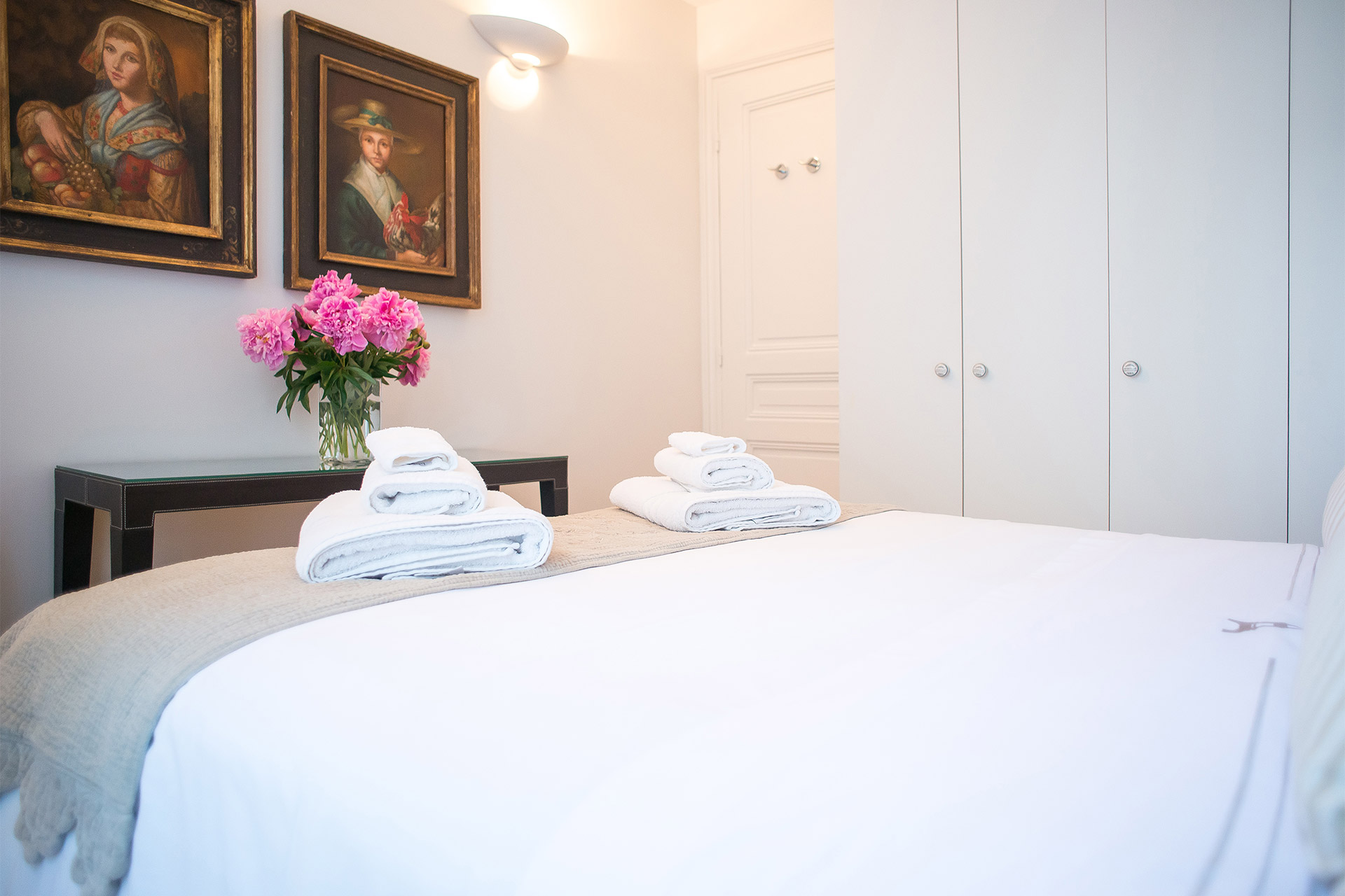 Large built in closets provide ample storage in the Bergerac vacation rental offered by Paris Perfect