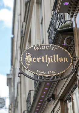 The famous Berthillon ice cream shop nearby