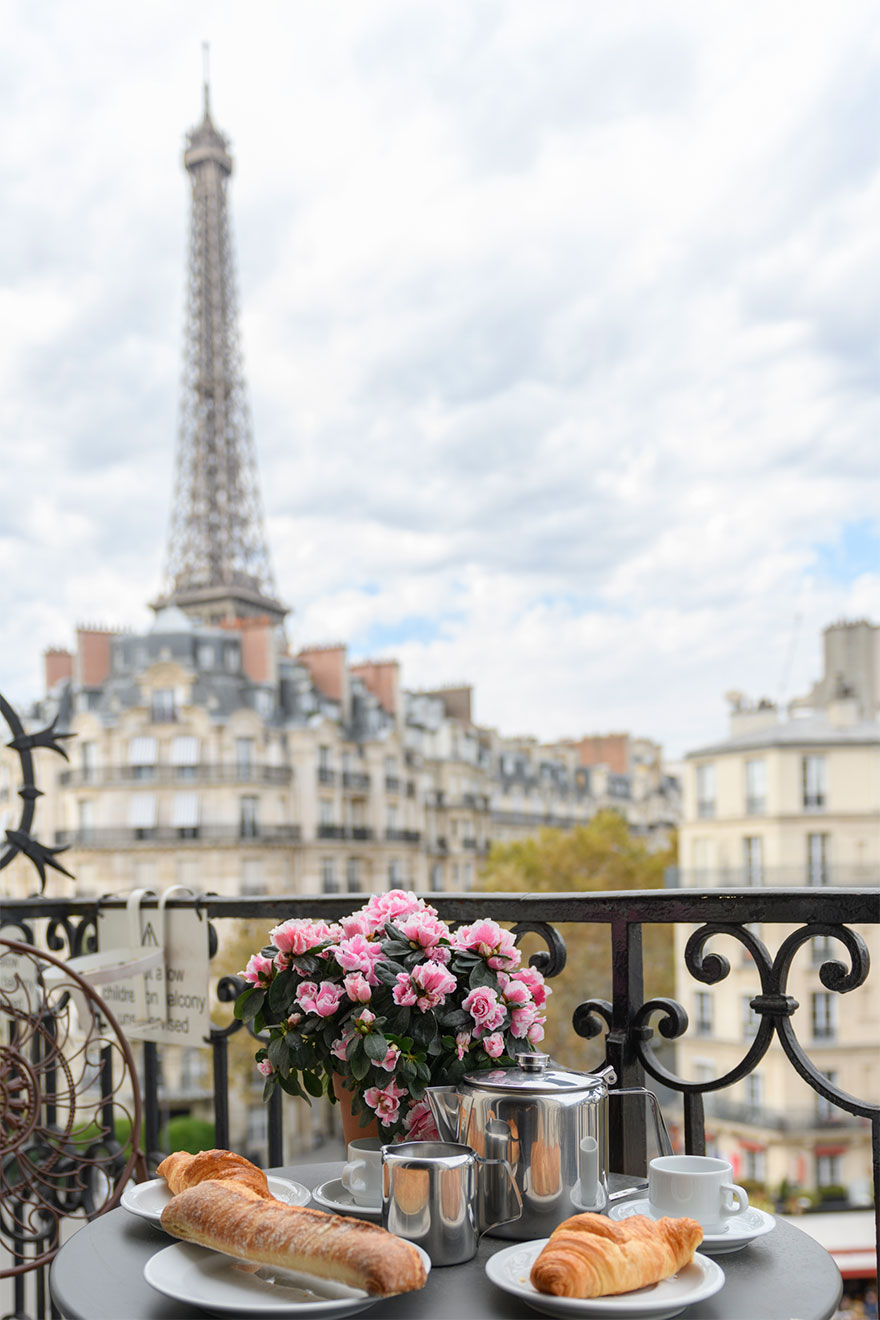 Beautiful views from the balcony of the Bordeaux vacation rental offered by Paris Perfect