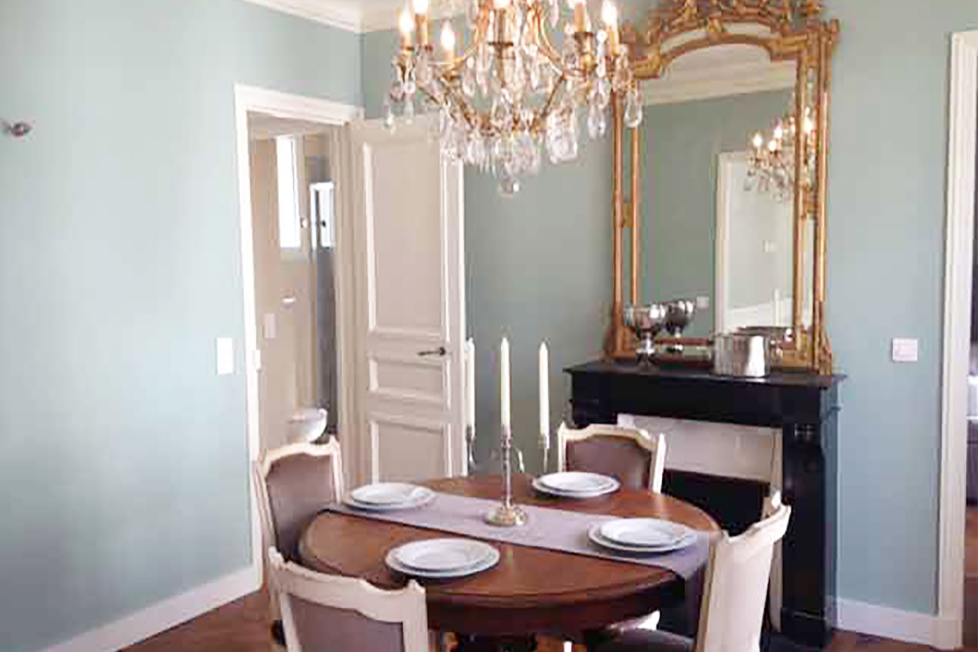 Entertain in style in the beautiful dining room at Bourgogne Paris Perfect rental