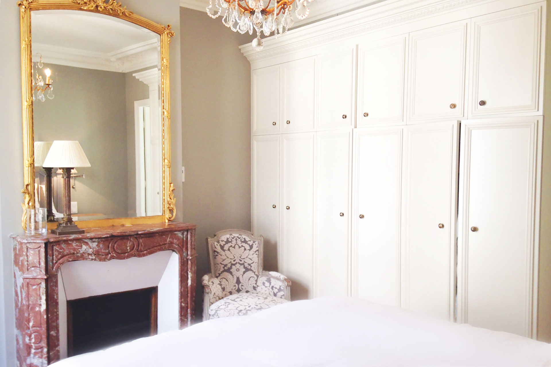 Lots of storage in the first bedroom at Bourgogne offered by Paris Perfect