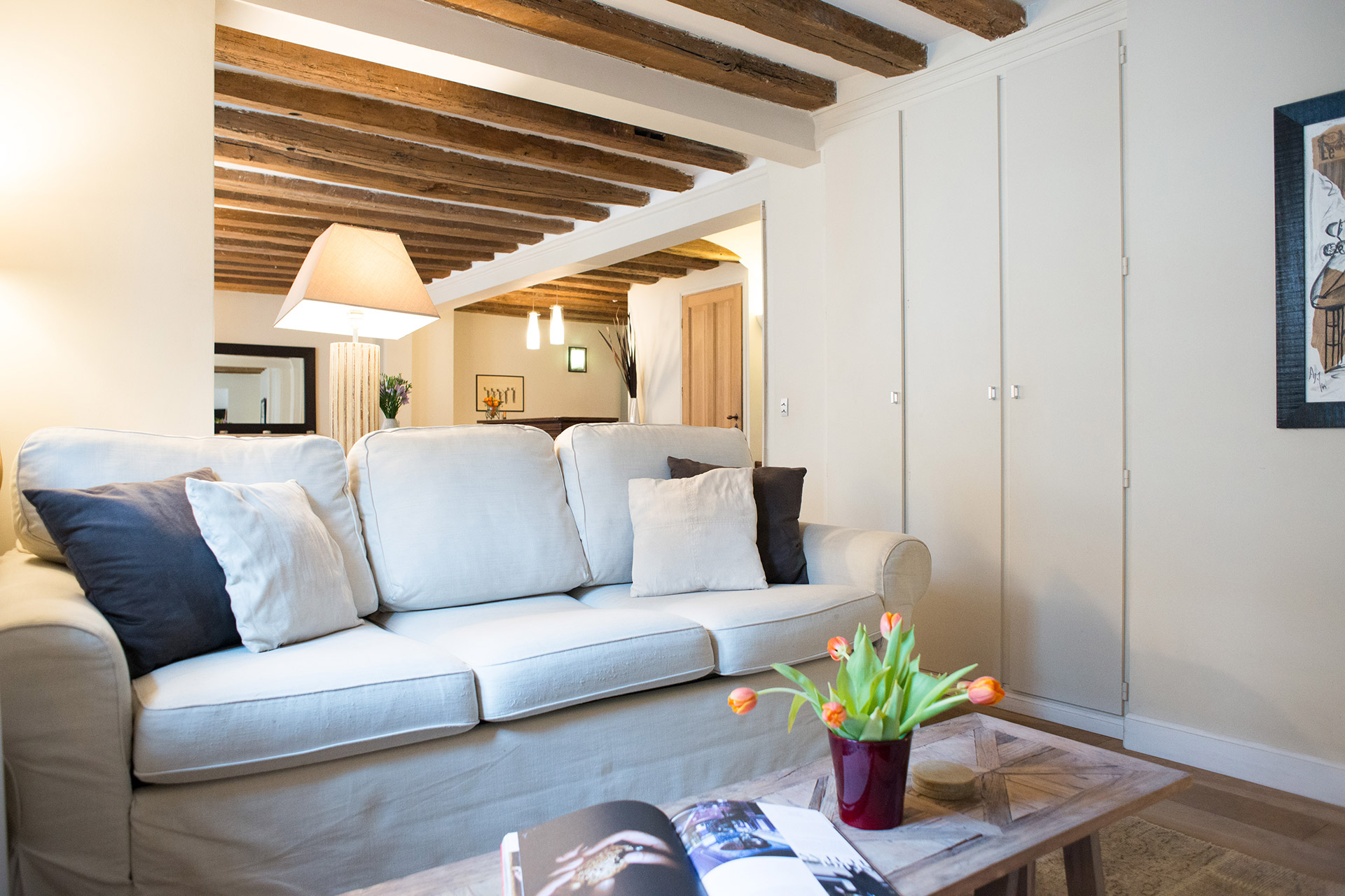 A warm, French countryside vibe in the Brittany vacation rental offered by Paris Perfect