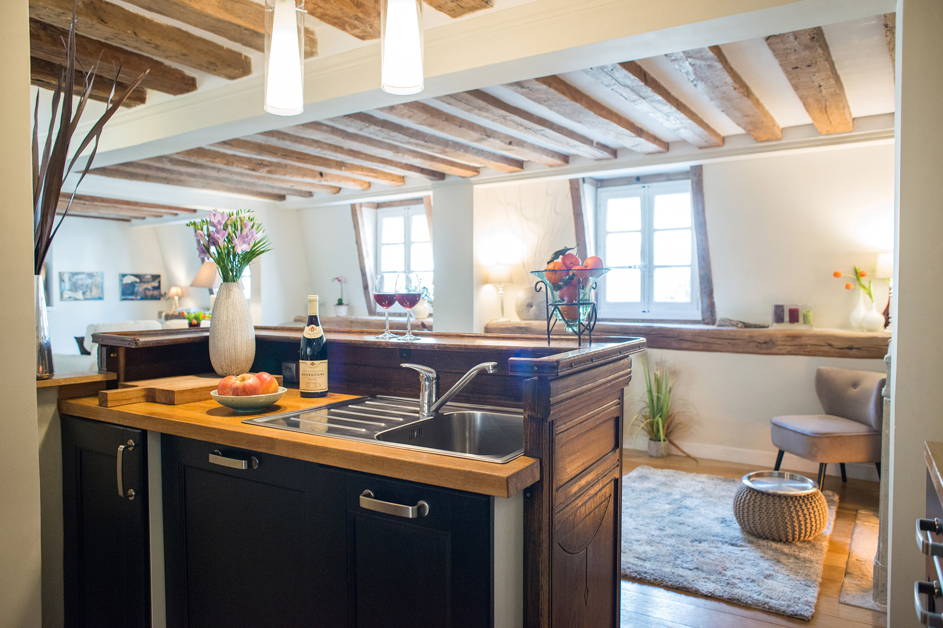 Cooking enthusiasts will find all the essentials in the Brittany vacation rental offered by Paris Perfect