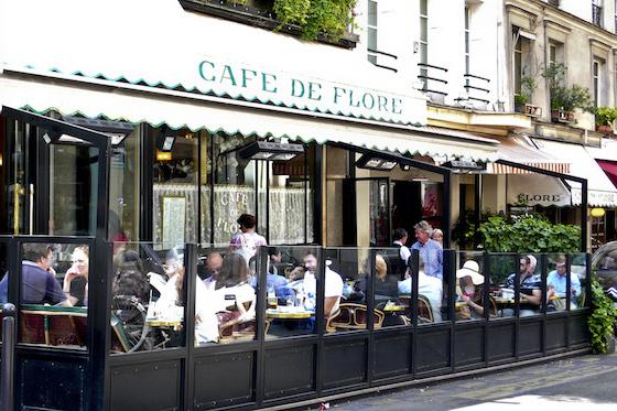 Cafe Flore in 6th Arrondissement of Paris