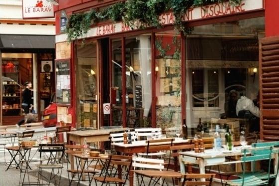Cafe in Marais District Paris
