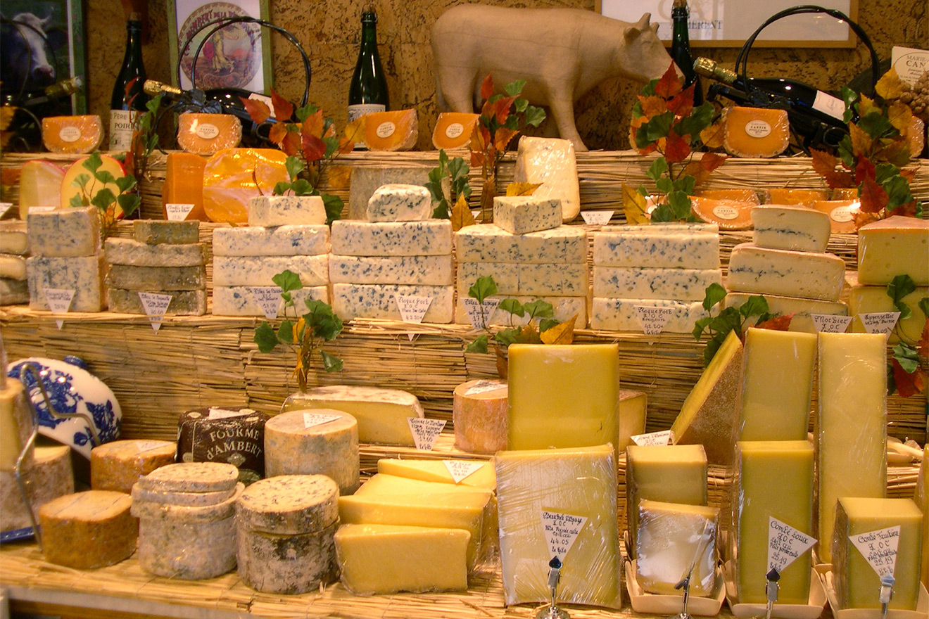 Be amazed by the selection at Paris' famous cheese shops
