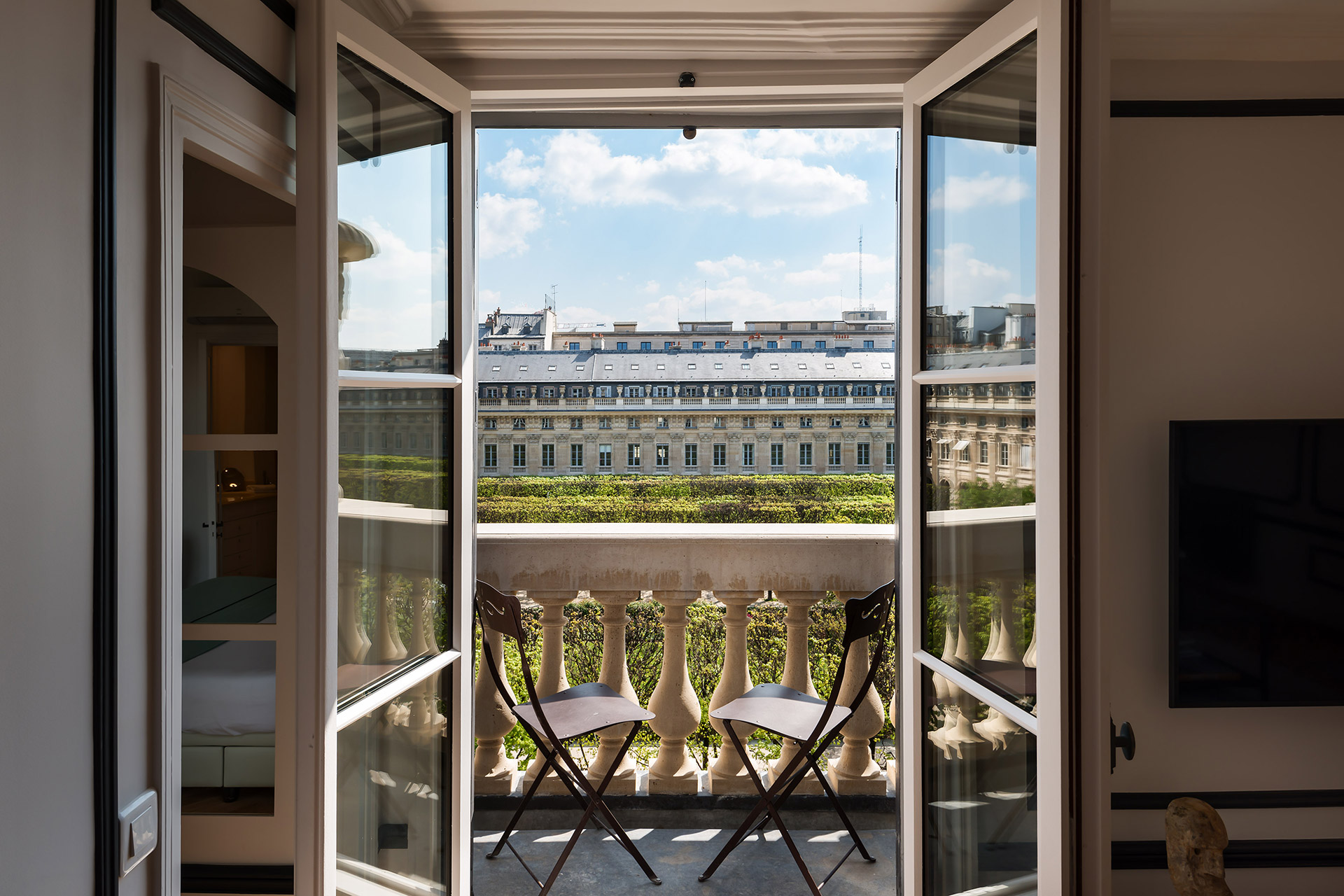 Chevalier vacation rental inside Palais-Royal by Paris Perfect