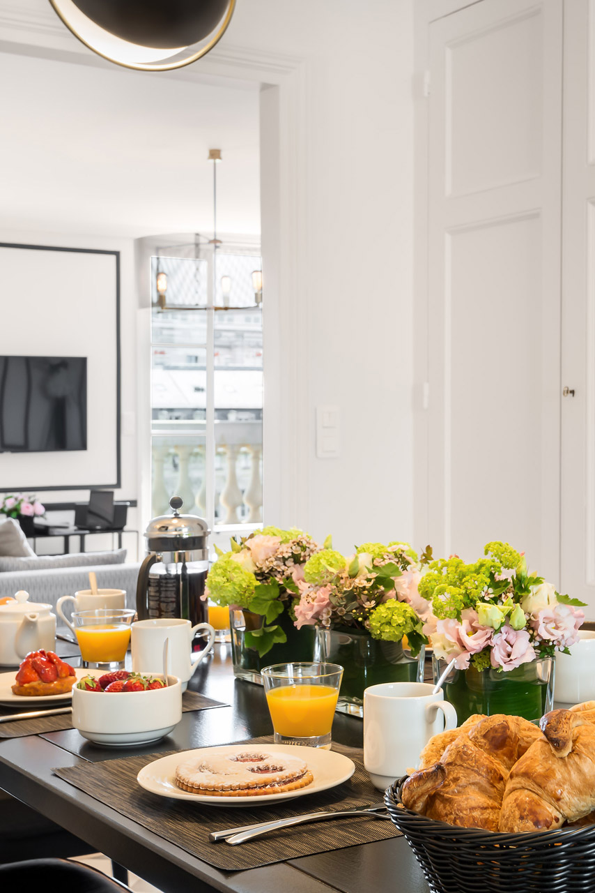 Kitchen in the Chevalier vacation rental by Paris Perfect