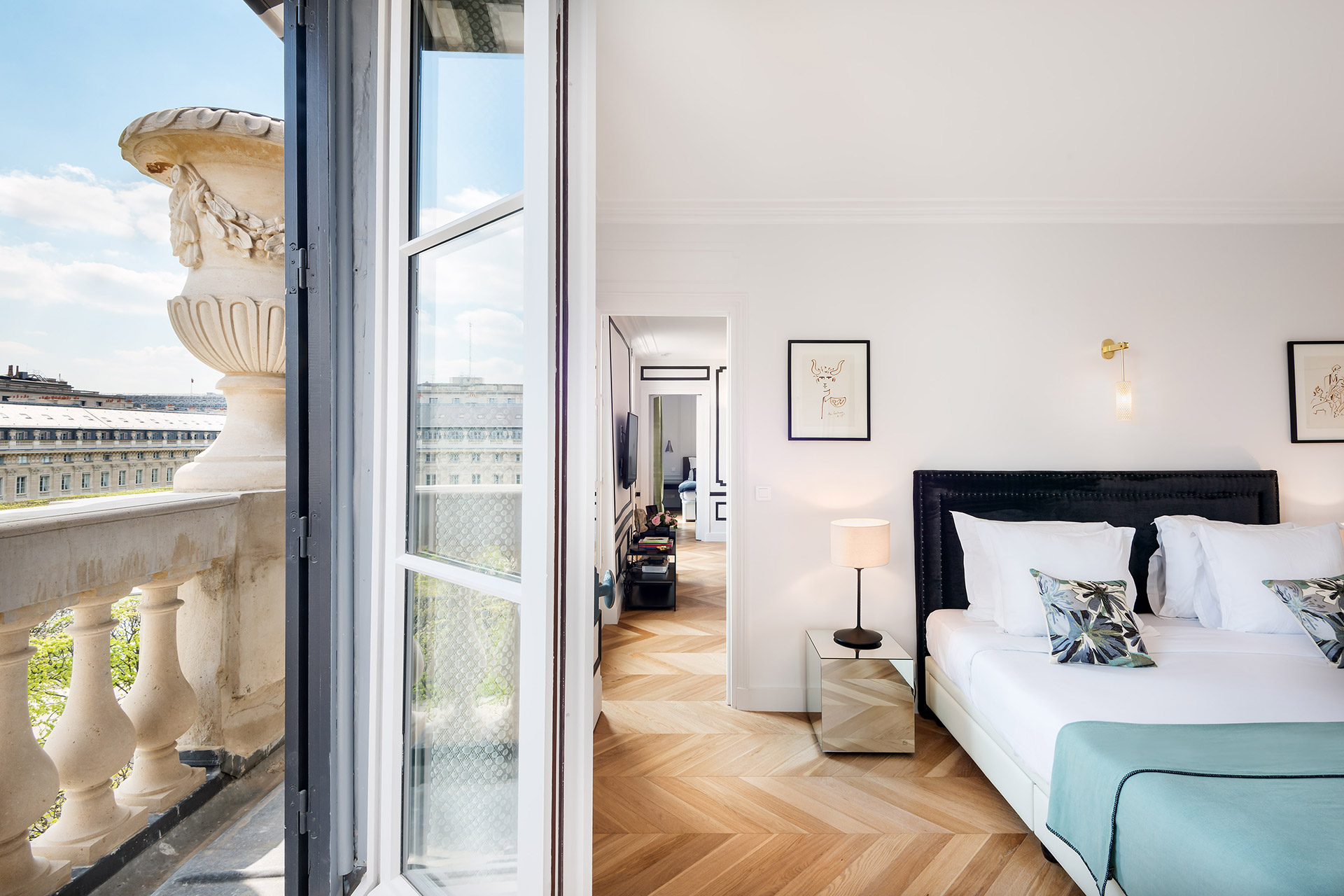 Bright bedroom 1 in the Chevalier vacation rental by Paris Perfect