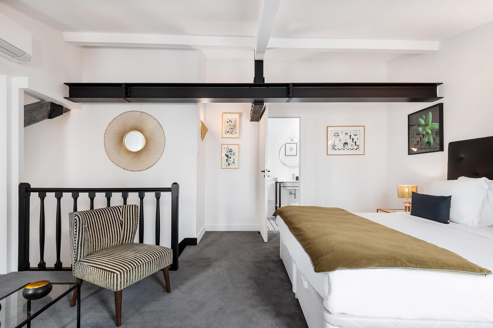 Comfortable bedroom 3 in the Chevalier vacation rental by Paris Perfect