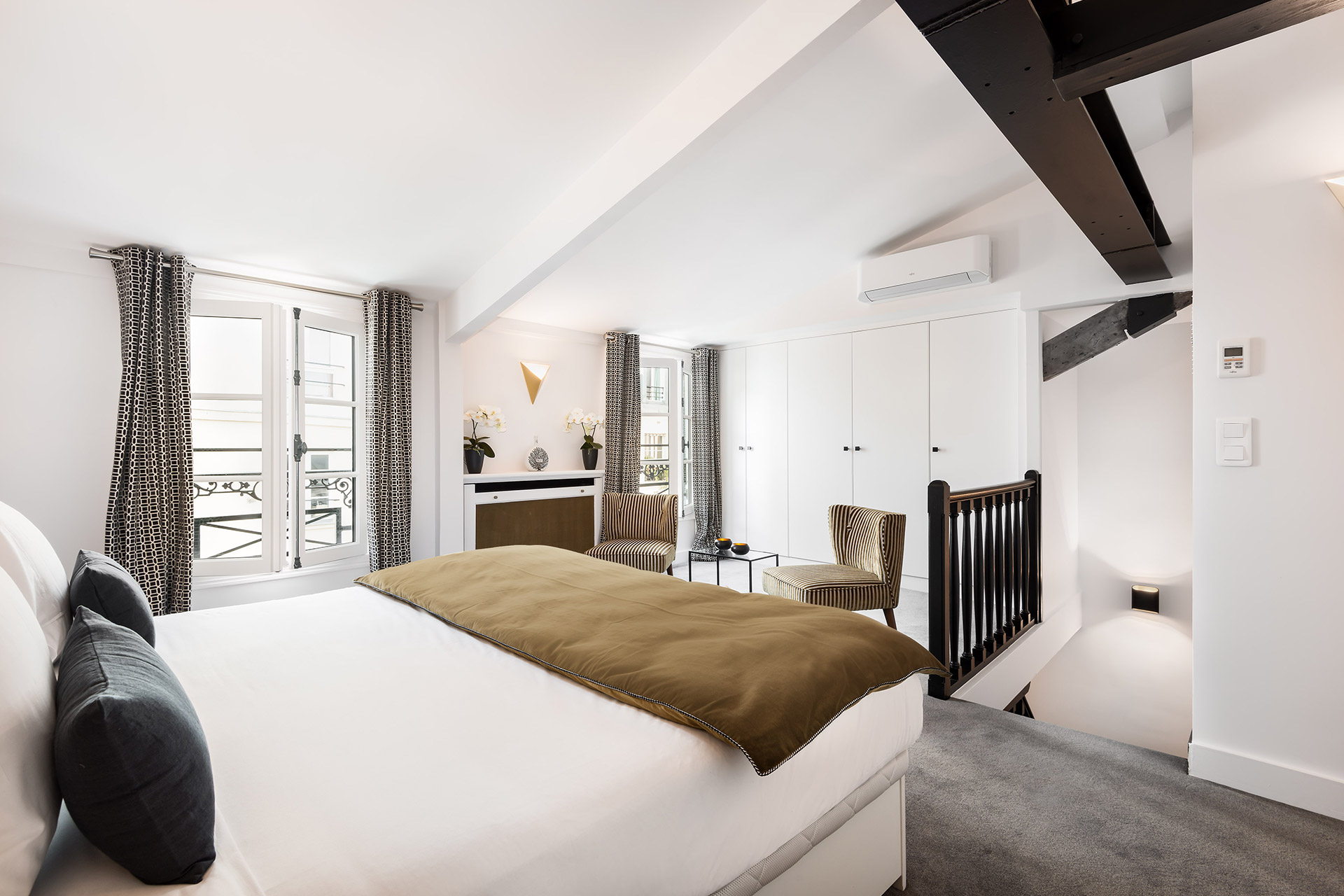 Luxurious bedroom 3 in the Chevalier vacation rental by Paris Perfect