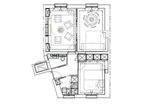 Clairette Paris flat floorplan