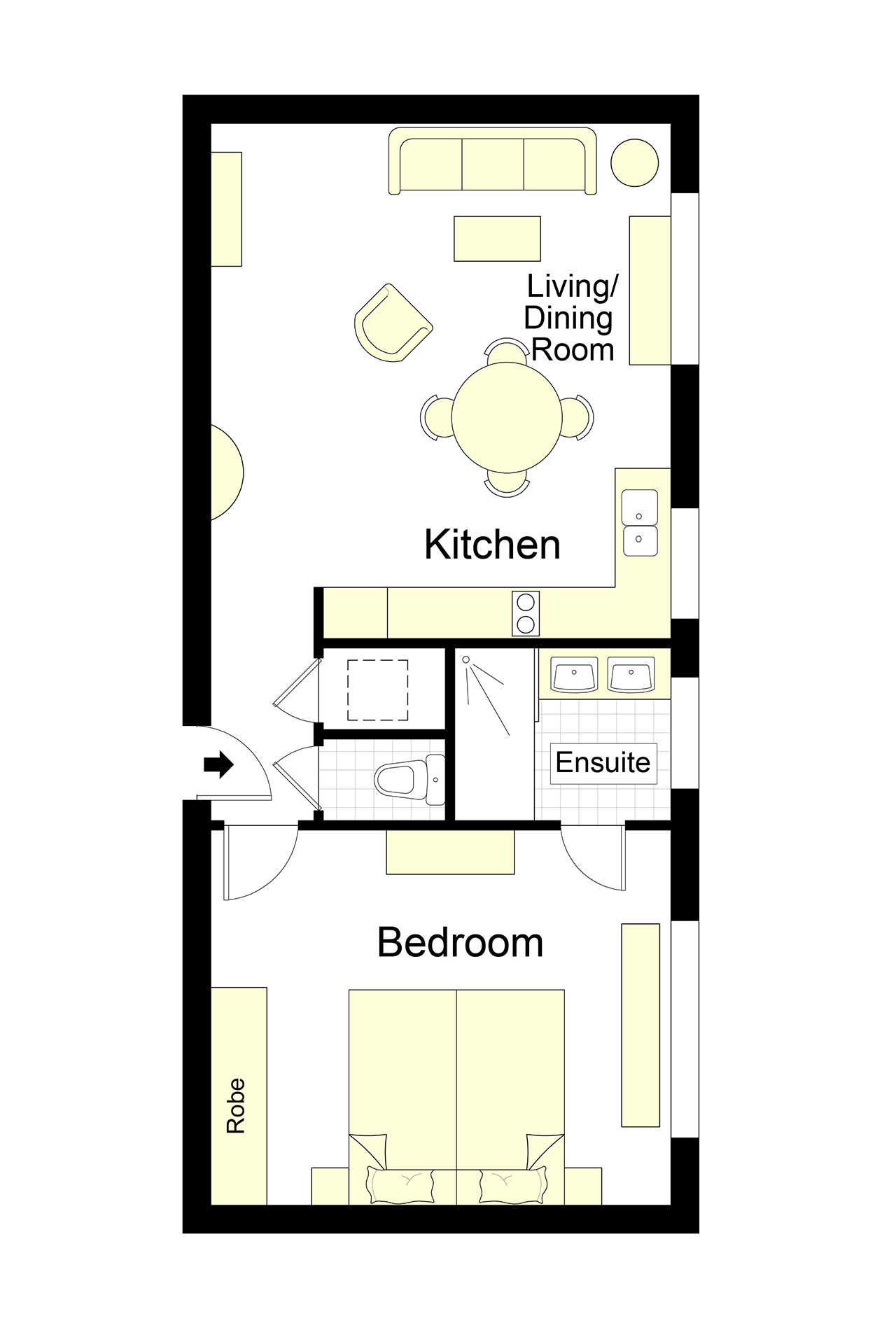 Collioure Furnished Paris Apartment Floorplan