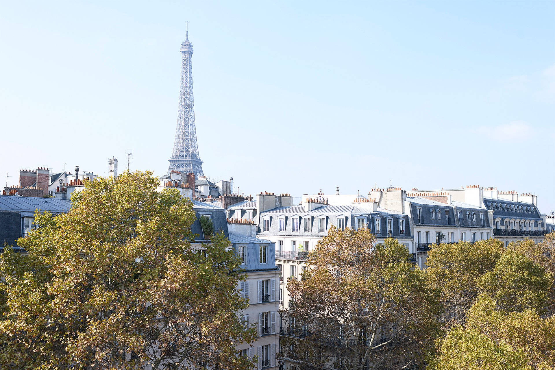 Stunning views from the Crémant window offered by Paris Perfect