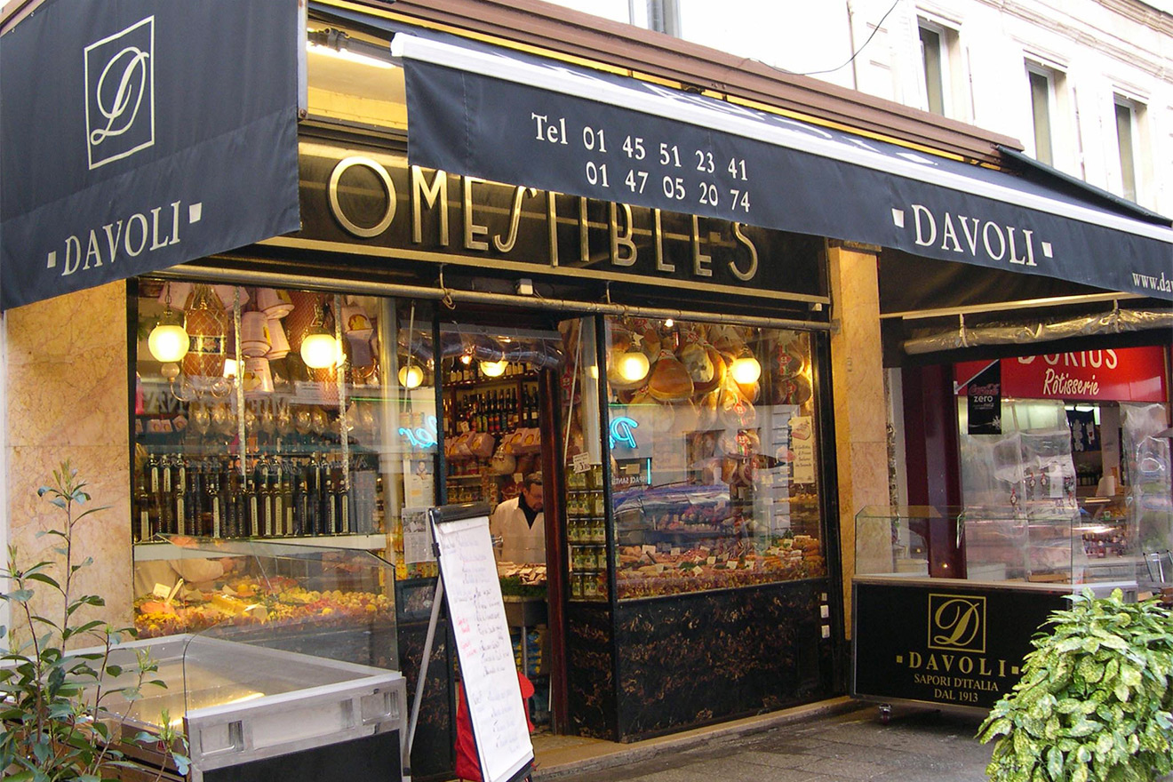 The fabulous Davoli delicatessen on rue Cler