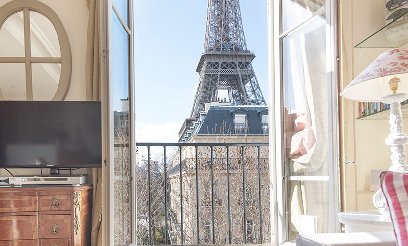 Eiffel Tower View from Paris Vacation Rental