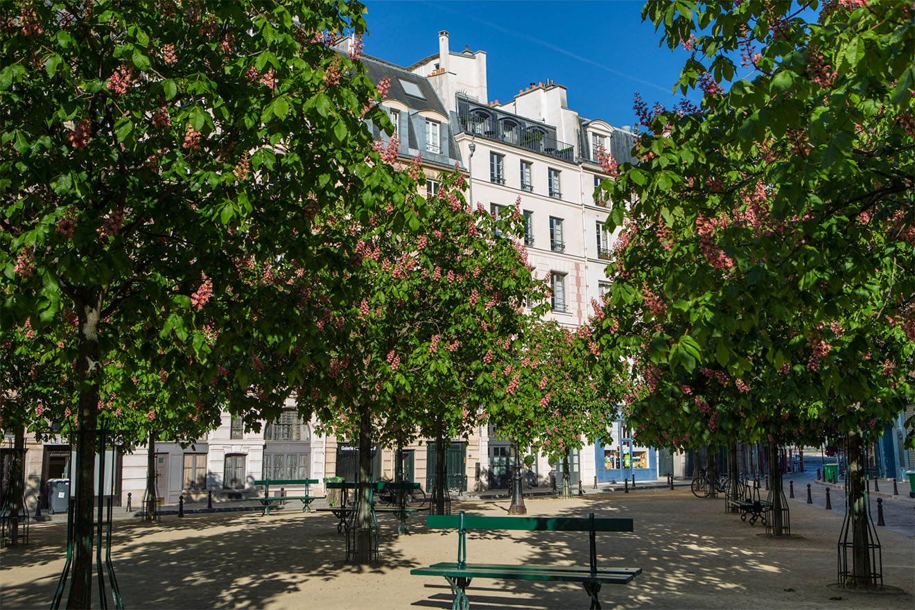 View of 25 Place Dauphine from the square