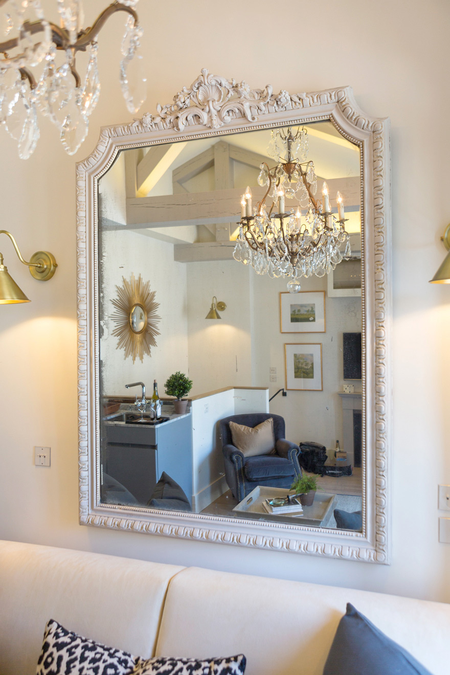 Ornate Mirror in the Savennières vacation rental offered by Paris Perfect