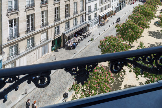 View of Place Dauphine from the Monbazillac vacation rental offered by Paris Perfect