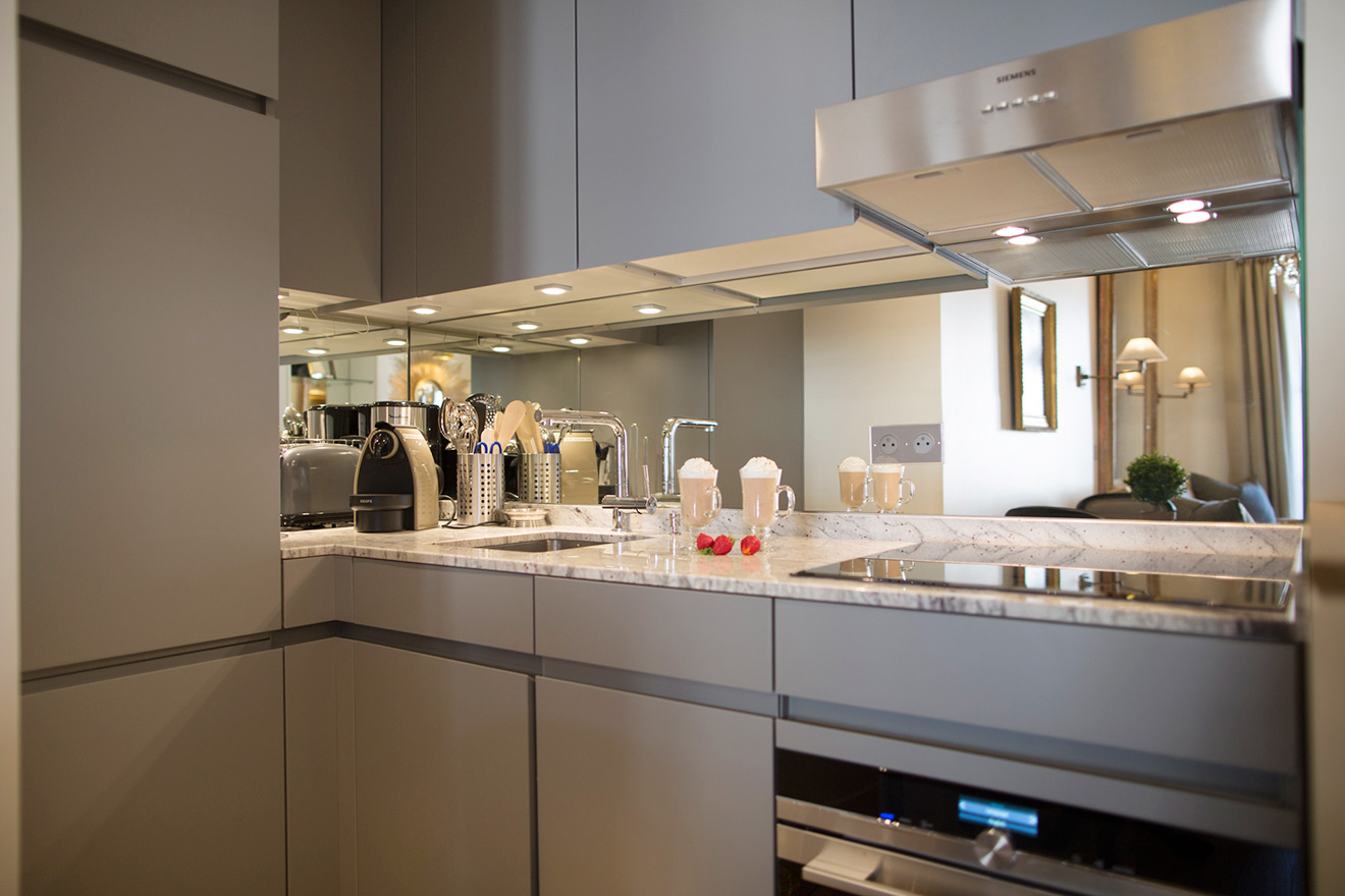 Modern kitchen with top of the line appliances in the Monbazillac vacation rental offered by Paris Perfect