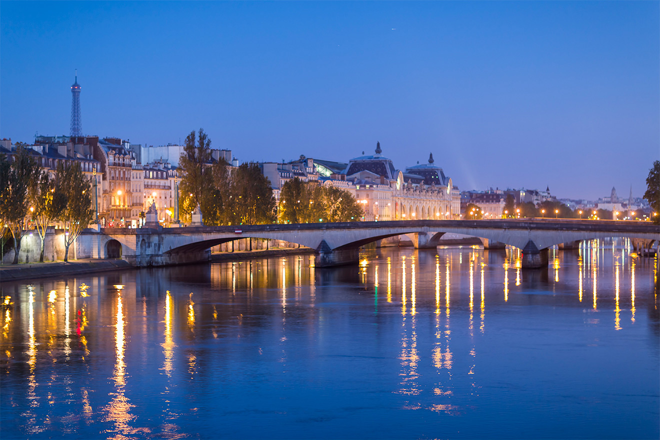Night Seine River