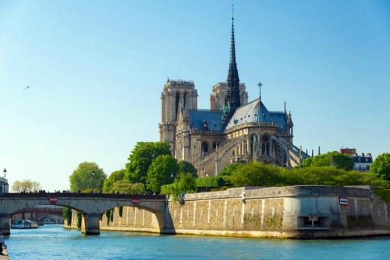 Manificant Notre Dame athedral on Ile de la Cite
