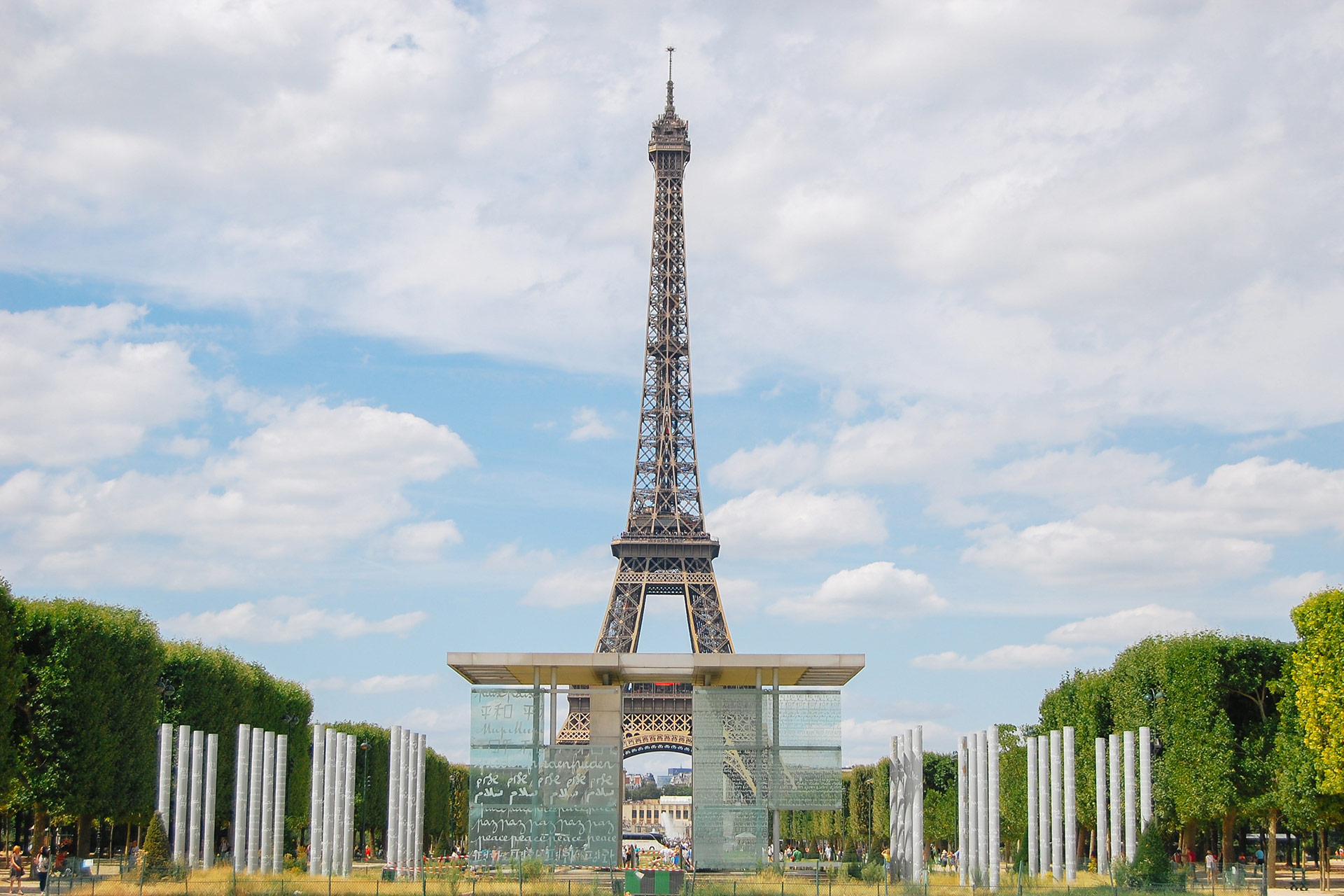 Wander over to the iconic Eiffel Tower and the lovely Champs de Mars gardens