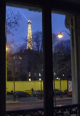 Winter View of Eiffel Tower