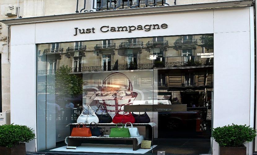 Luxury shops along Boulevard Saint Germain