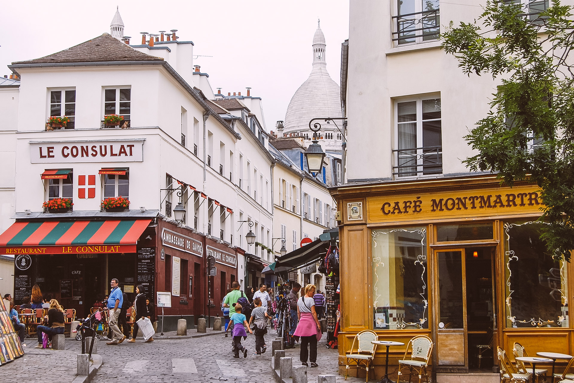 The iconic heart of Montmartre with its village-like atmosphere