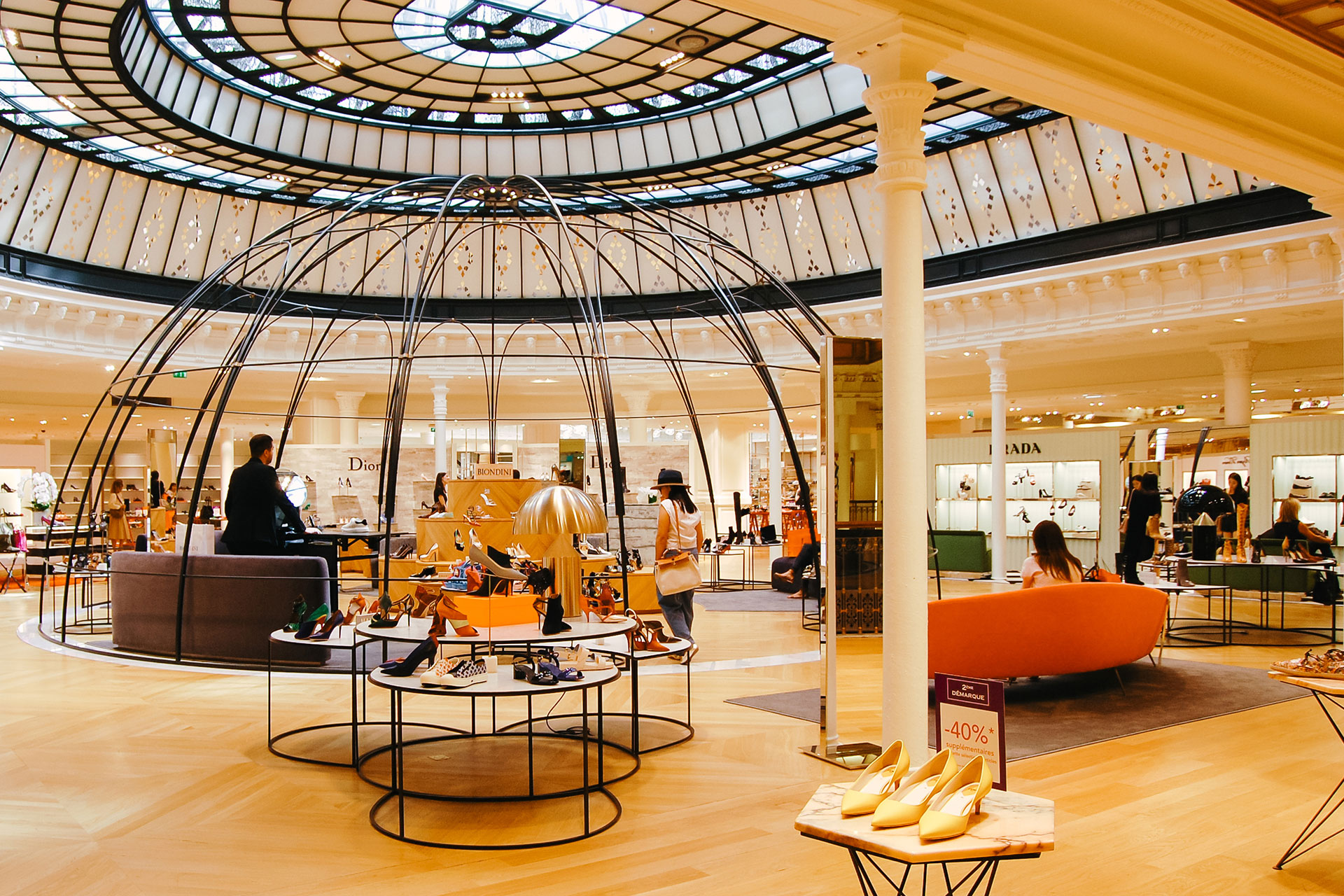 Shop with style in the stunning Le Bon Marché