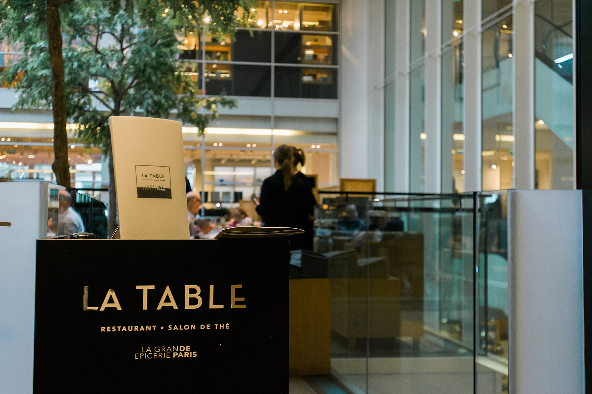 Splurge for a gourmet lunch at La Table in the Grand Épicerie just down the road