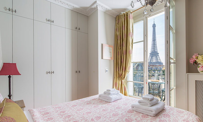 Master Bedroom Paris Vacation Rental
