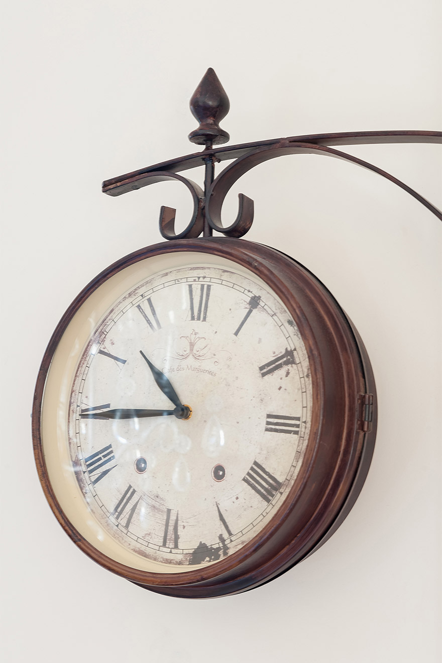 Old French clock from the Puces flea market