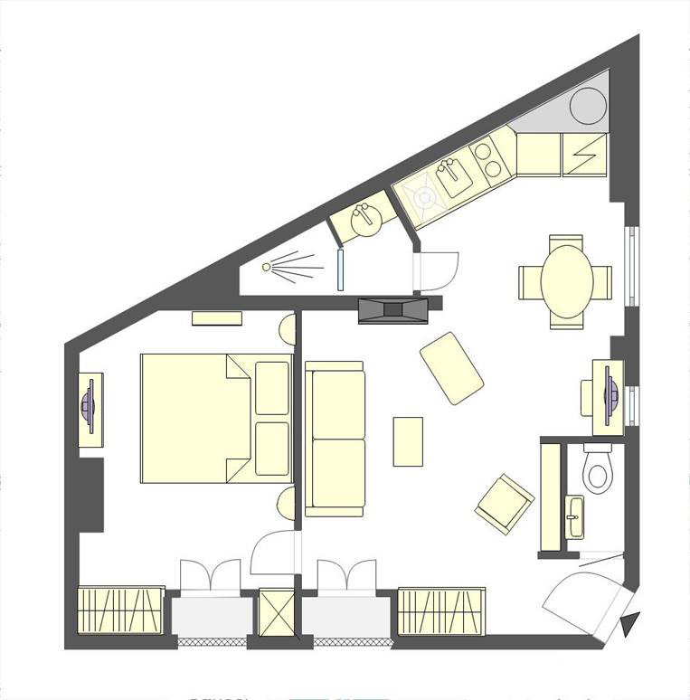 Floorplan of the charming Moselle Paris apartment