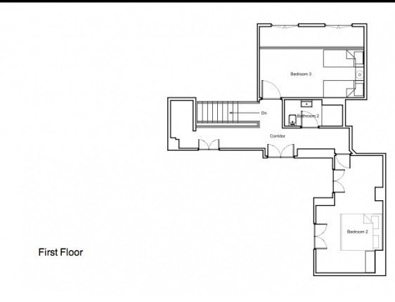 First floor plan of our Musigny Apartment Rental