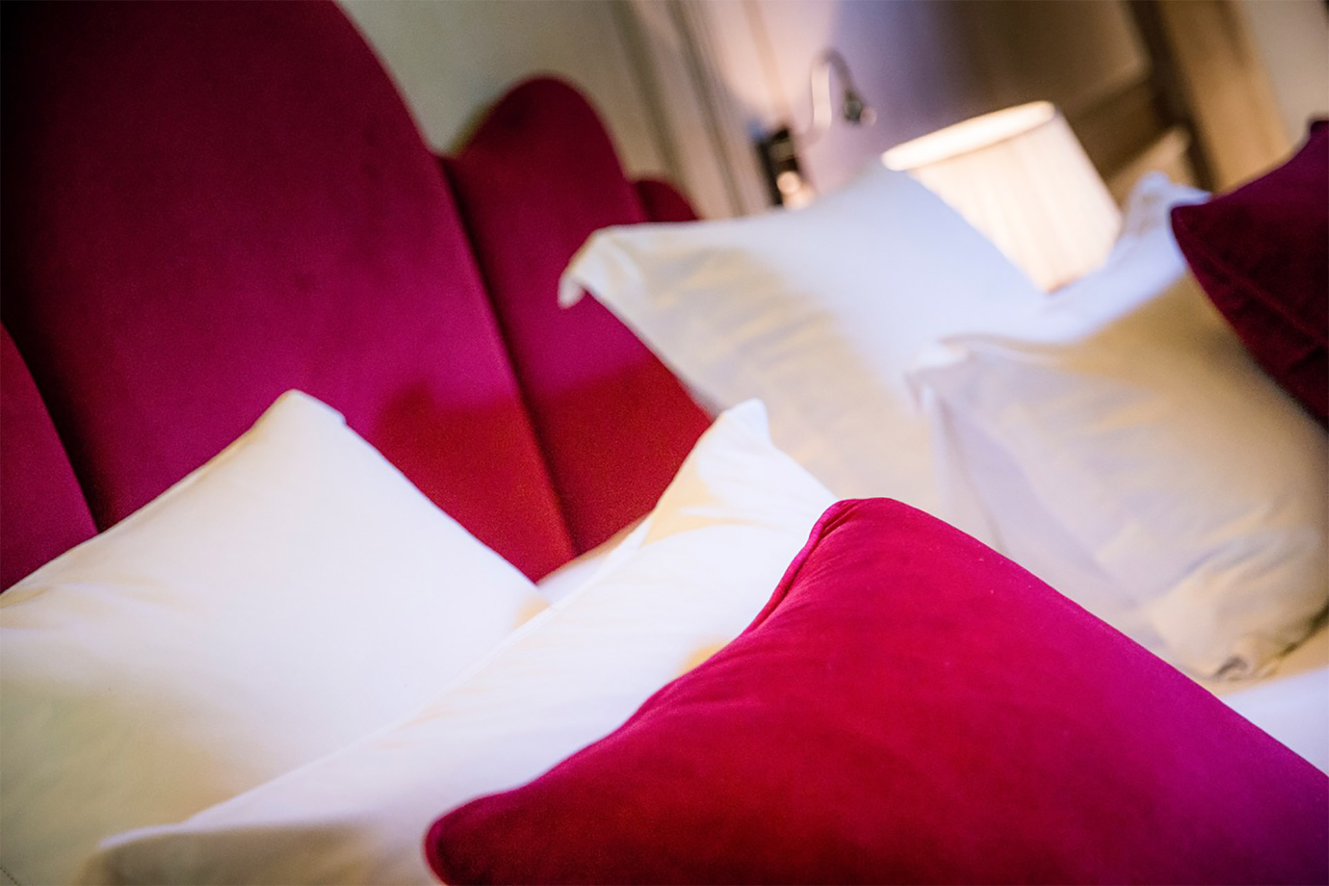 Luxurious bedding provided for your comfort at the Normandy Livarot Suite Paris Perfect rental