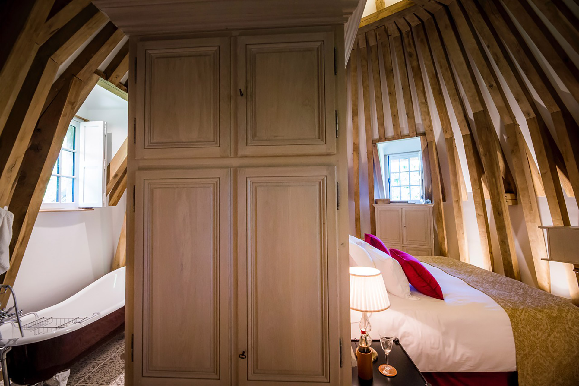 Ample storage in the bedroom in this Paris Perfect Normandy rental