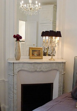 Original Decorative Fireplace Paris Apartment