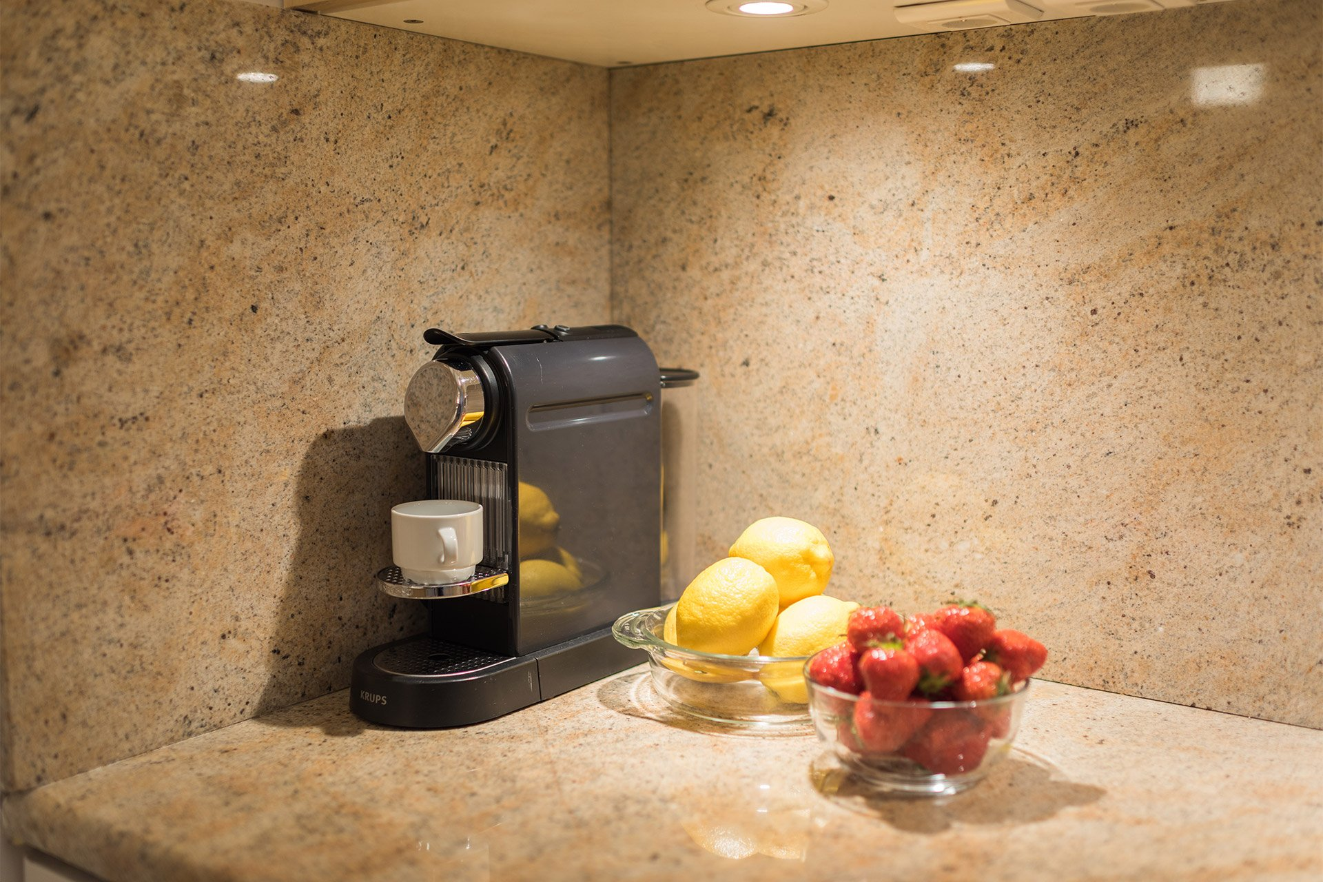 Nespresso machine in the kitchen of the Pomerol vacation rental offered by Paris Perfect