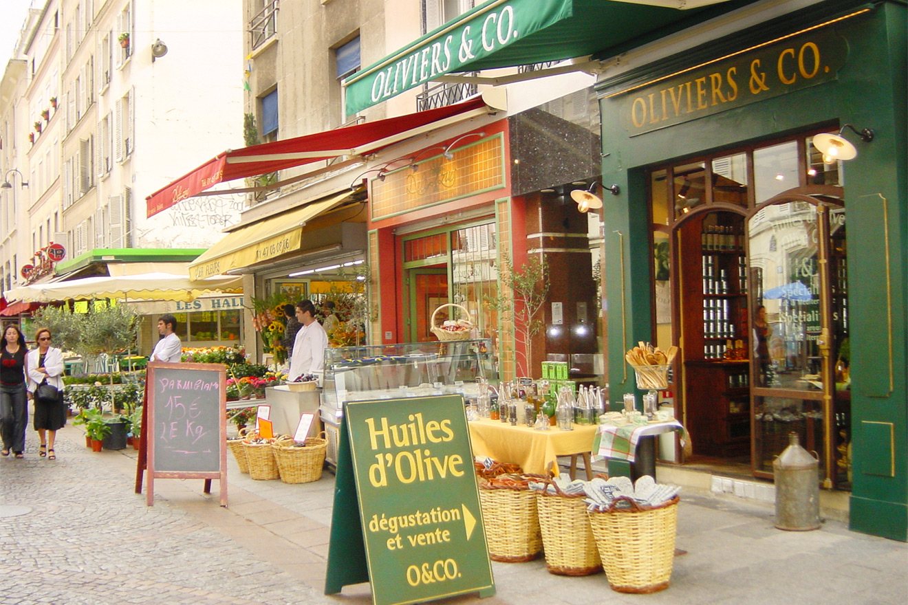 Specialty stores are found all Rue Cler