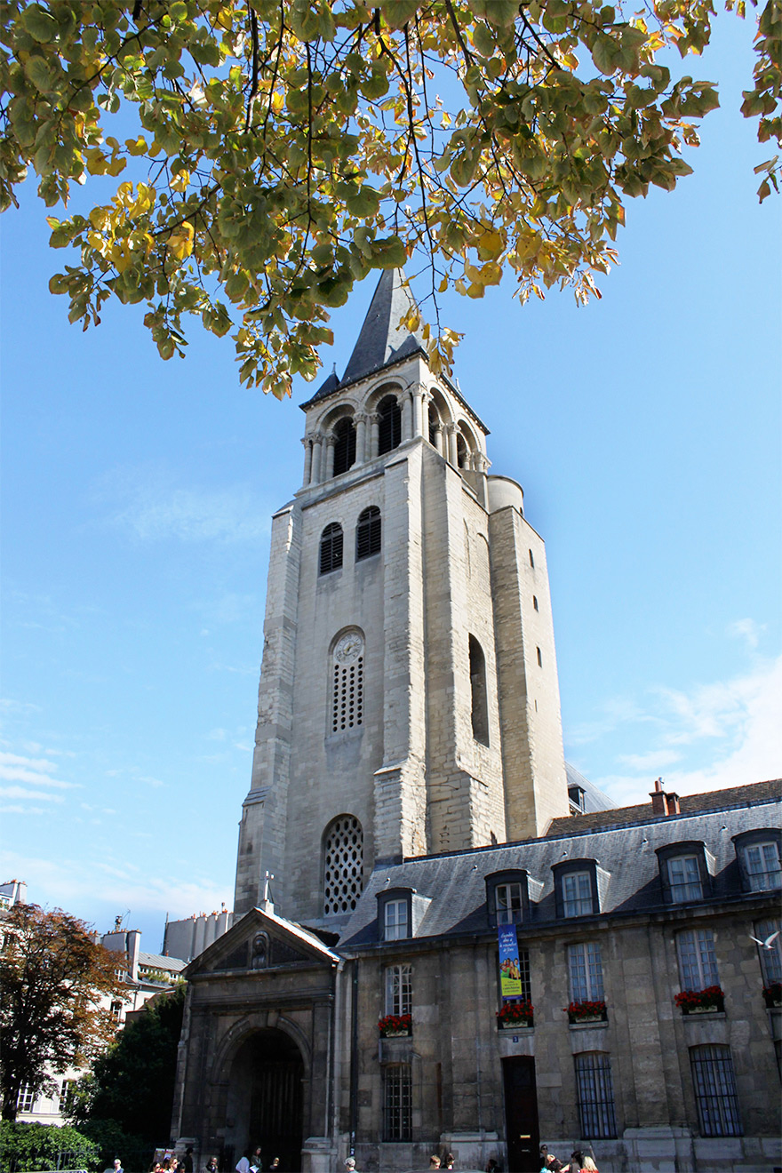 Stroll down to the Church of Saint-Germain-des-Prés
