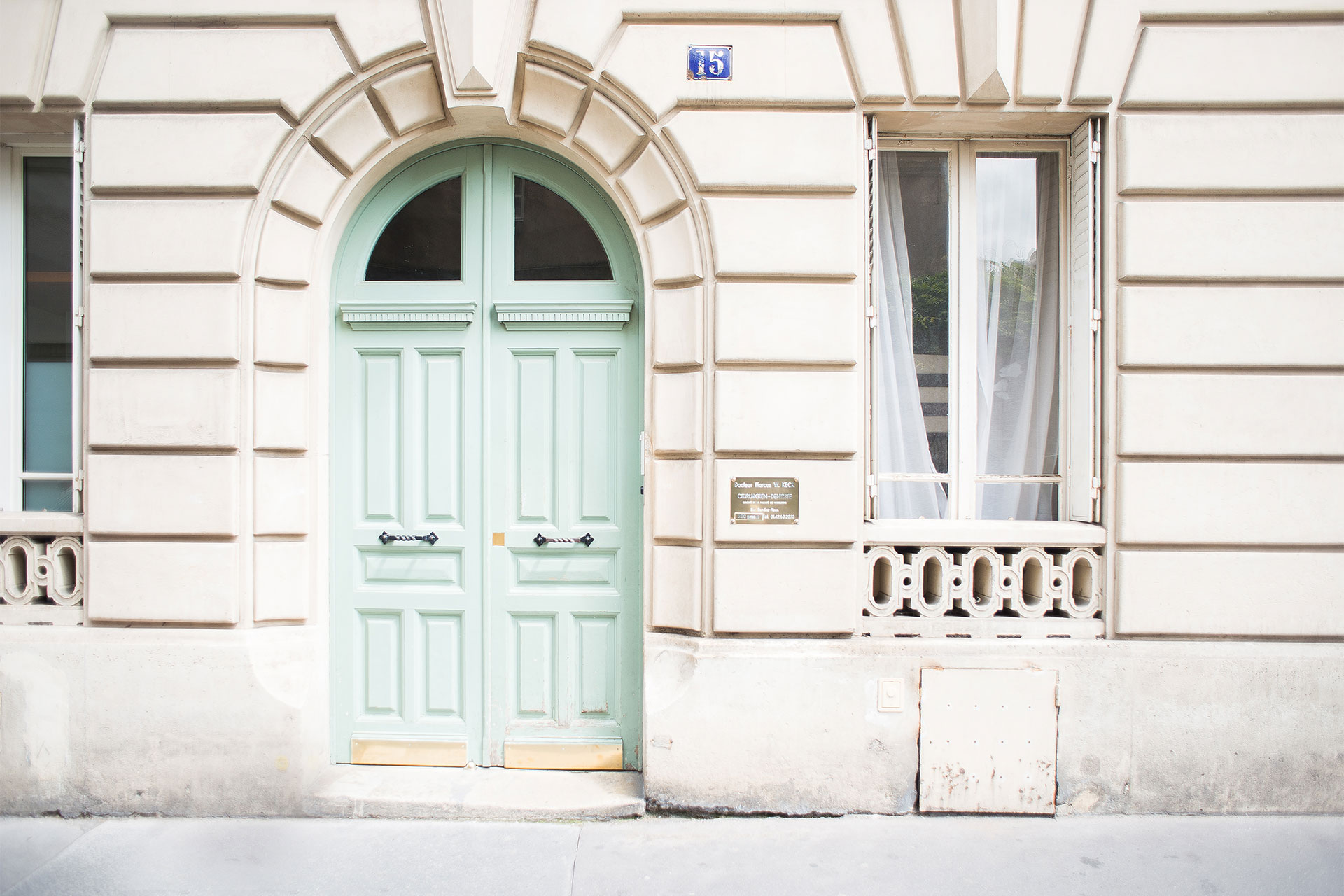 Stunning Parisian buildings line every street near the Bourgogne