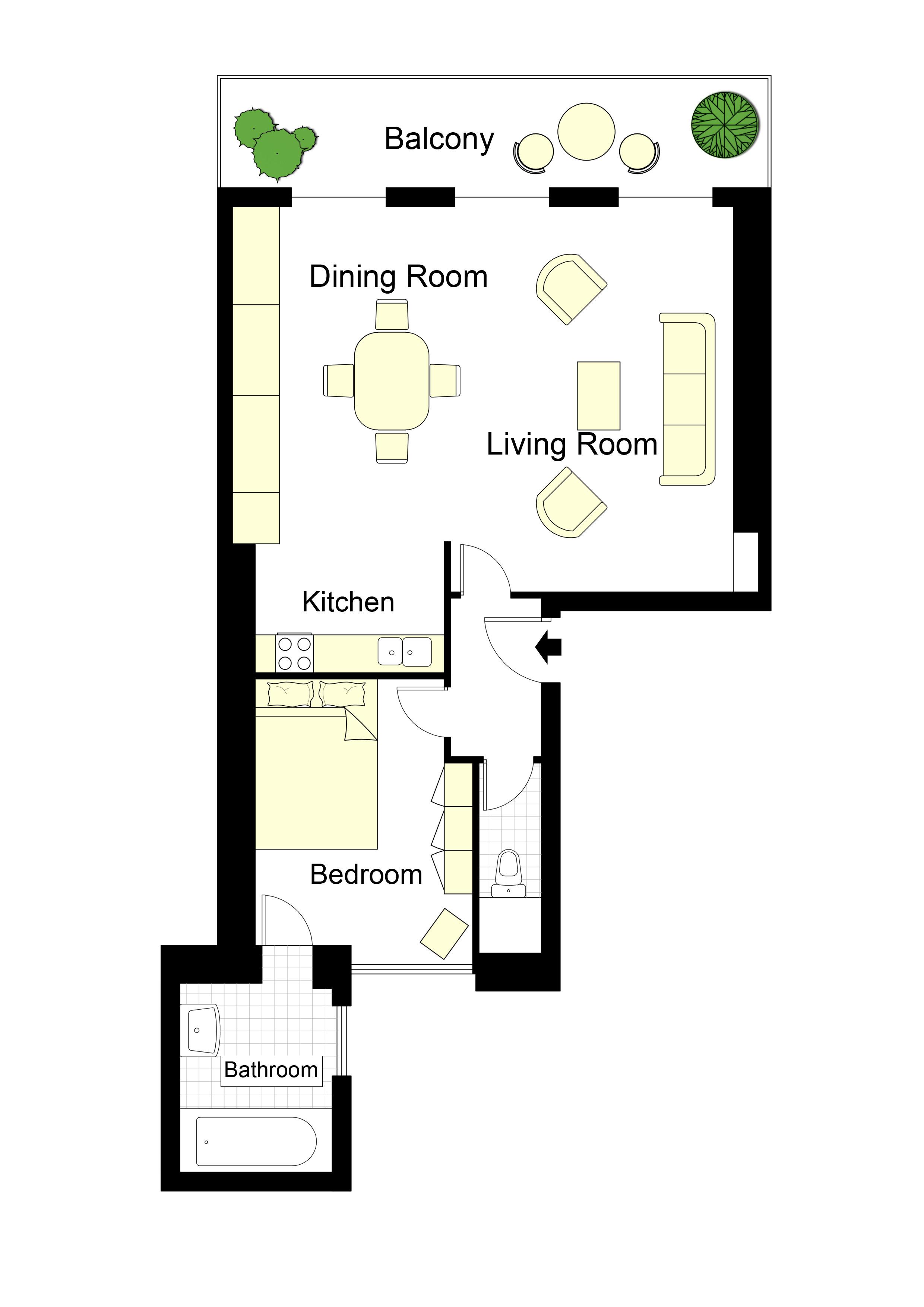 One Bedroom Air Conditioned Paris Apartment