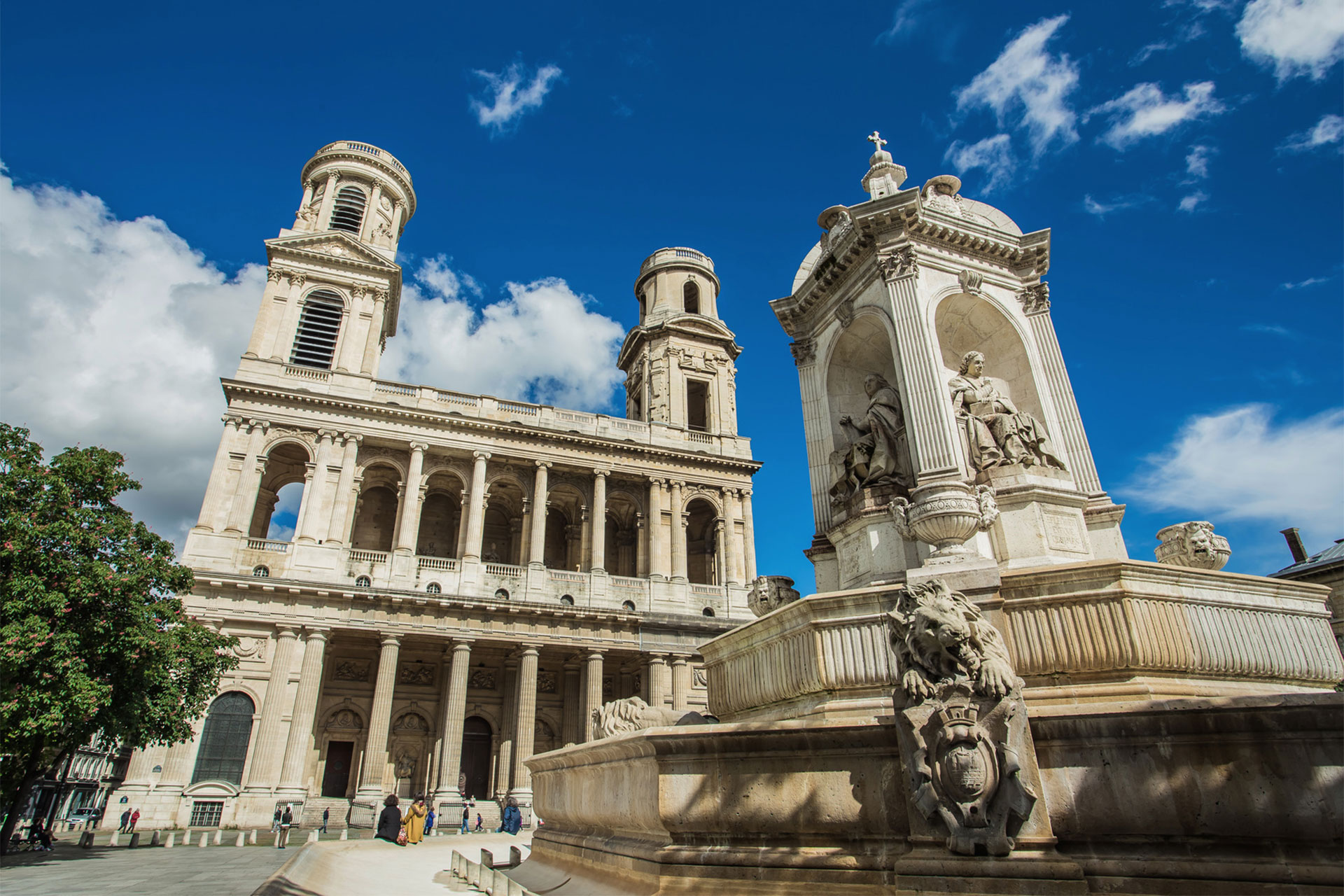 Saint Sulpice church near our Bourgogne Paris Perfect rental