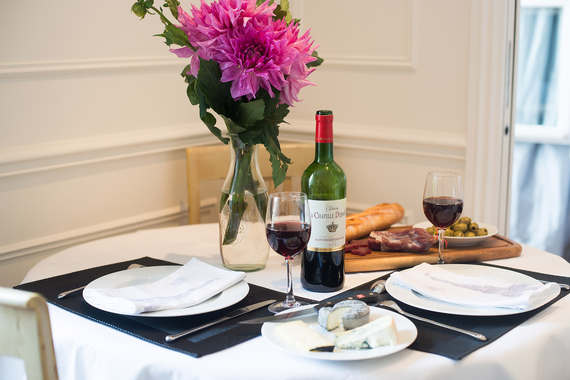 Treat your special someone to a romantic French dinner at home