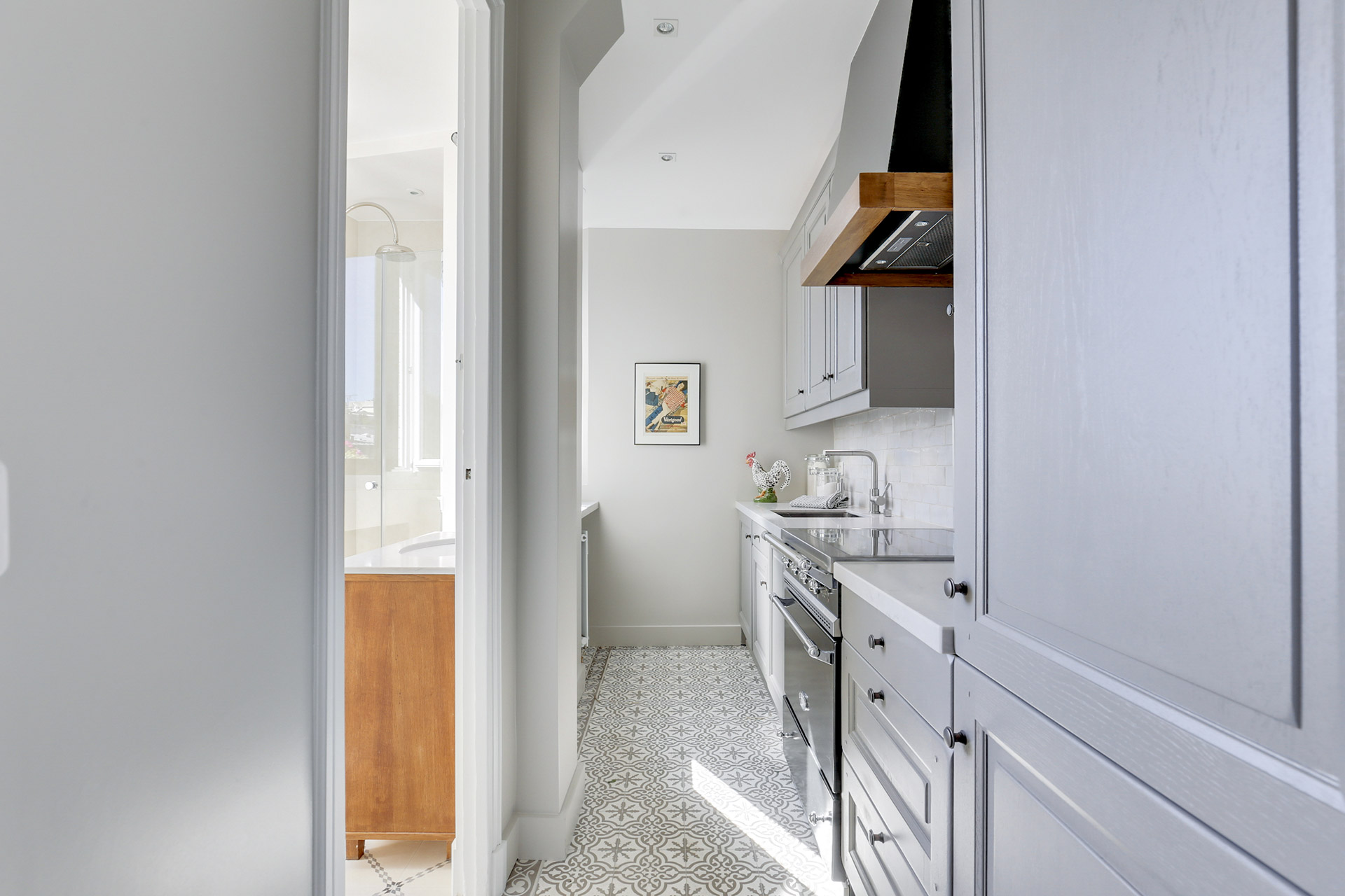This quaint apartment makes the most out of every square inch in the Vivarais vacation rental by Paris Perfect