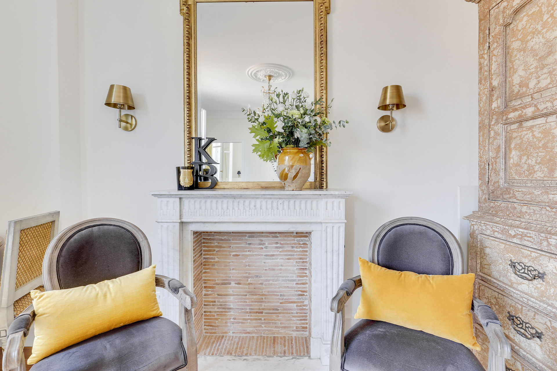 This living room is perfect in the Vivarais apartment rental by Paris Perfect