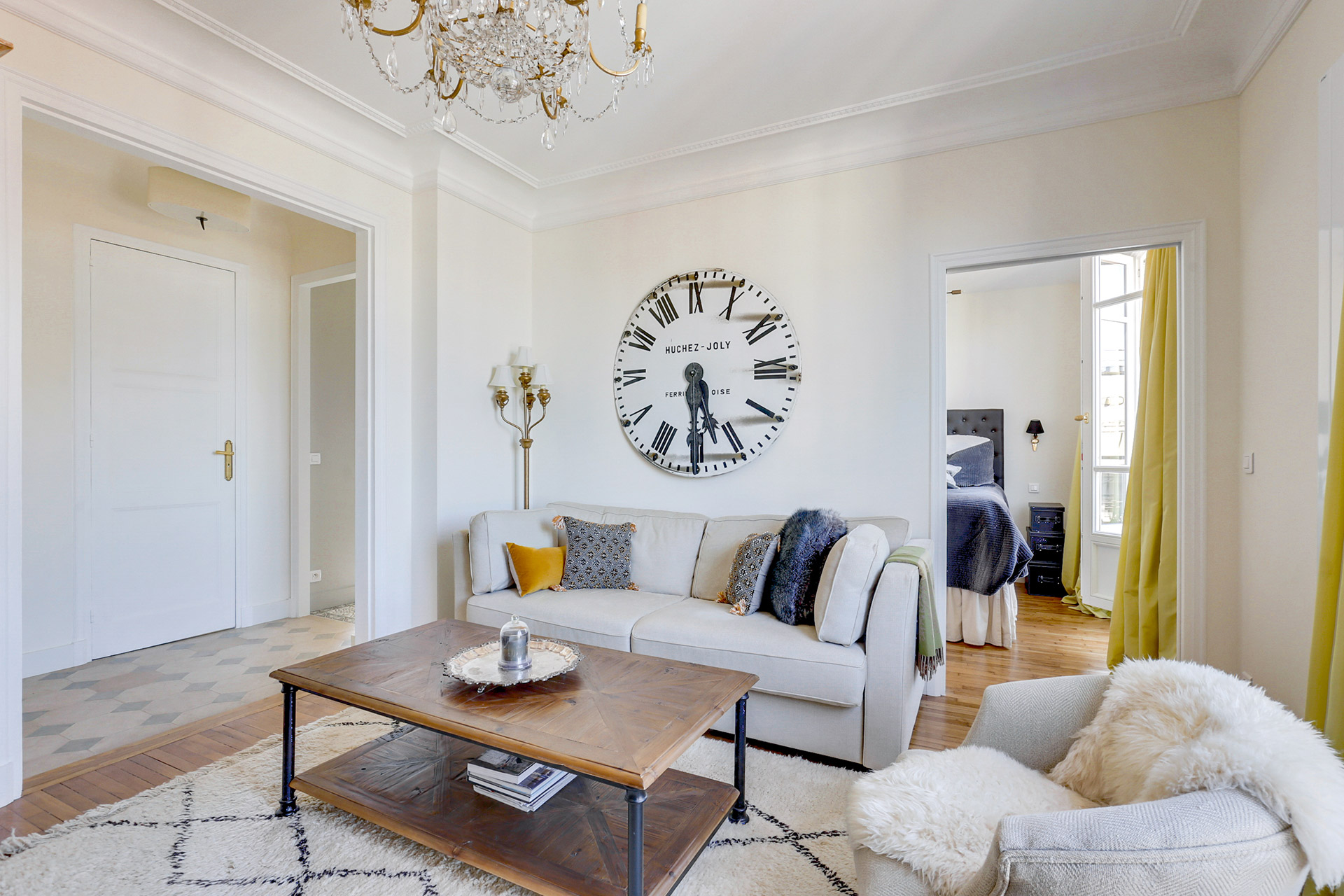 Look at these beautiful accent pieces in the Vivarais apartment rental by Paris Perfect